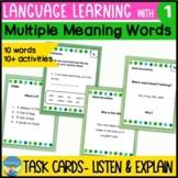 Homonyms Activities 1 | Language Skills Task Cards | Multi