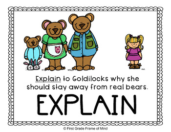 Academic Vocabulary Goldilocks and the Three Bears Gr. 1