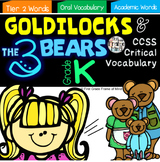 Academic Vocabulary Goldilocks and the Three Bears Anchor Charts Activities