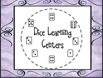 CCSS Dice Learning Stations- Reading, Writing, and Math Ac