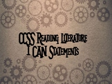 CCSS ELA 3rd Grade I Can Statements- Steampunk with Gears