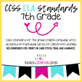 CCSS ELA 7th Grade Standards Display Cards/Posters