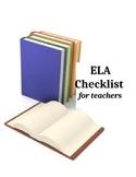 CCSS ELA Checklist 3rd grade