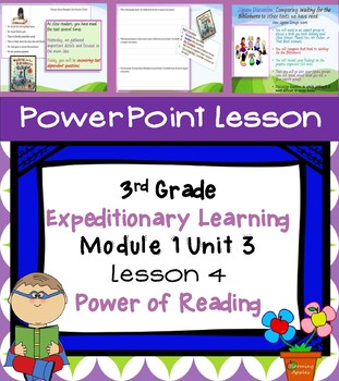 Engage NY Expeditionary Learning 3rd grade Module 1 Unit 3 Lesson 4 Power Point