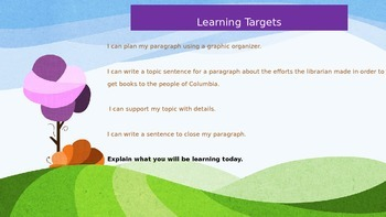 Engage NY Expeditionary Learning 3rd grade Module 1 Unit 3 Lesson 5 Power Point