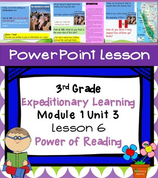Engage NY Expeditionary Learning 3rd grade Module 1 Unit 3 Lesson 6 Power Point