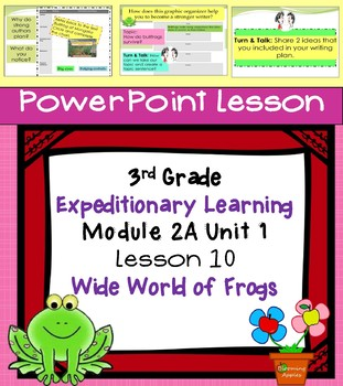 Engage NY Expeditionary Learning 3rd grade Module 2A Unit 1 Lesson 10 PowerPoint