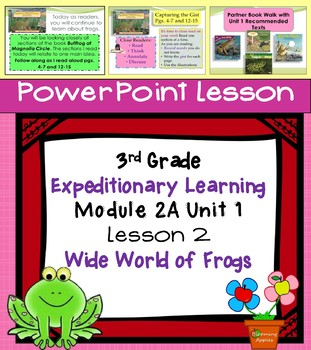 Engage NY Expeditionary Learning 3rd grade Module 2A Unit 1 Lesson 2 Power Point