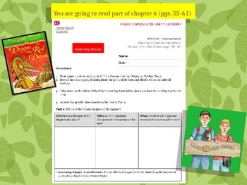 Engage NY Expeditionary Learning 3rd grade Module 2B Unit 1 Lesson 7 Power Point