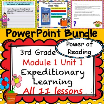 Engage NY Expeditionary Learning PowerPoint 3rd Grd Module 1 Unit 1 Lesson 1-11