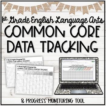 CCSS ELA First Grade Student Checklist - Tracking Progress