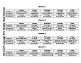 CCSS ELA Grade 5 Weekly Pacing Schedule