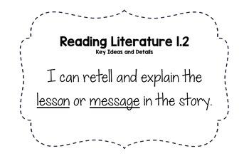 CCSS ELA I Can Statements (1st Grade)