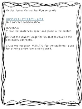 CCSS.ELA-LITERACY.L.4.2.A Use correct capitalization- Center