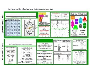CCSS ELA / MATH 3rd Grade Name Tags ~ Beginning of Year Activity ~