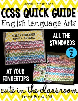 CCSS ELA Quick Guide - Create Your Own Standard Flipbook - 2nd
