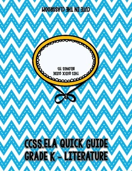 CCSS ELA Quick Guide - Create Your Own Standard Flipbook - K
