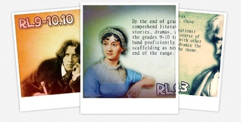"Common Core ELA Reading Literature 9-10 ""Famous Authors"" Classroom Posters"