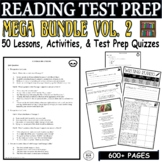 CCSS ELA Reading Test Prep Vol. 2 MEGA BUNDLE 45 Days Lessons Quizzes Activities