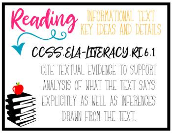 CCSS ELA Standards BUNDLE - 8th Grade
