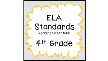 CCSS ELA Standards  Reading Literature 4th Grade