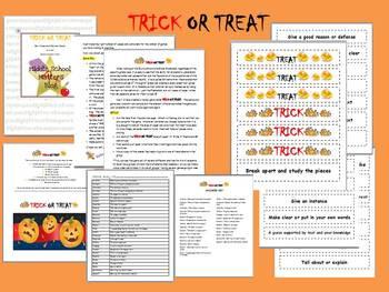 CCSS ELA Vocabulary Trick or Treat