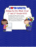 Free - Freebie: 1st and 2nd Grade CCSS ELA: Writing for the Whole Year!