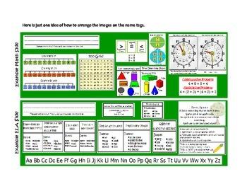 CCSS ELA/MATH 1st Grade Name Tag ~ New School Year Activity Useful All Year Long