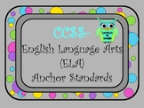 CCSS English Language Arts (ELA) Anchor Standards Posters-