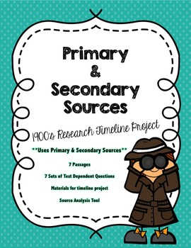 CCSS Events of the 1900s Timeline Project & Close Reading Bundle
