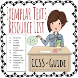 CCSS Exemplar Texts Resource List 2-3
