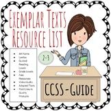 CCSS Exemplar Texts Resource List 2-3