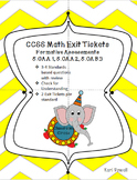 CCSS Exit Tickets for Math 5.OA Standards