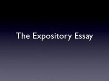 CCSS Expository Essay Notes