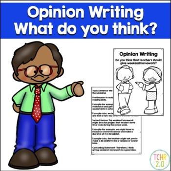 Opinion Writing Prompt Weekend Homework