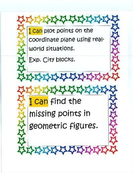 """CCSS Fifth Grade Math """"I Can"""" Statements"""