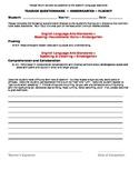 CCSS ~ Teacher Questionnaire ~ Fluency ~ Kindergarten