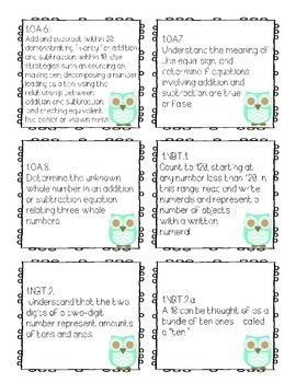 CCSS Grade 1 - Chevron Owl Theme