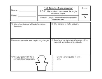 CCSS Grade 1 Math Assessments