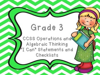 CCSS Grade 3 Math - Operations and Algebraic Thinking