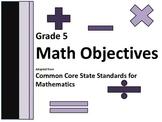 CCSS Grade 5 Math Objectives