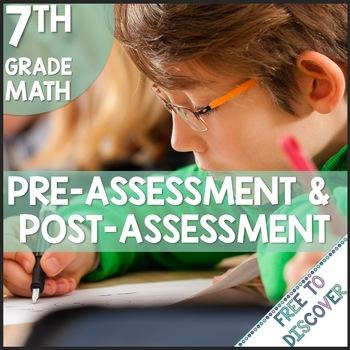 CCSS Grade 7 Math Pre-Assessment and Post-Assessment