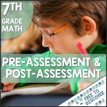 CCSS Grade 7 Math Pre-Assessment and Post-Assessment
