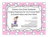 CCSS Graphic Organizers for Any Frances Book By Russell Hoban and Lillian Hoban