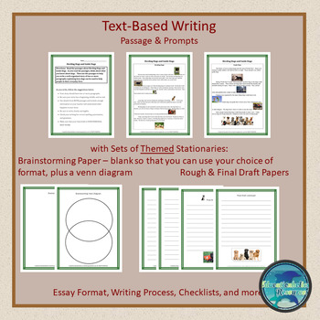 "CCSS ""HERDING DOGS AND SERVICE DOGS"" TEXT-BASED WRITING ASSIGNMENT"