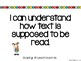 """CCSS """"I Can"""" Read Statements"""