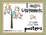 CCSS~ I Can Statement Posters {2nd Grade Math} Owls