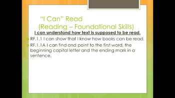 "CCSS ""I Can"" Statements for Classroom Instruction That Works ELA Math"