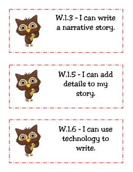 "CCSS ""I Can"" Statements(Student Lang.)-ELA and Math- Owl Themed"