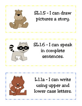 "CCSS ""I Can"" Statements(Student Lang.)-ELA and Math-Woodsy/Camping/Nature Themed"